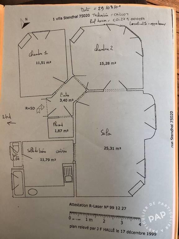 Appartement 820.000€ 71m² Paris 20E (75020)