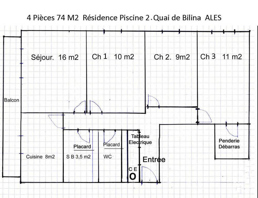 Vente Appartement Alès (30100) 74m² 55.000€