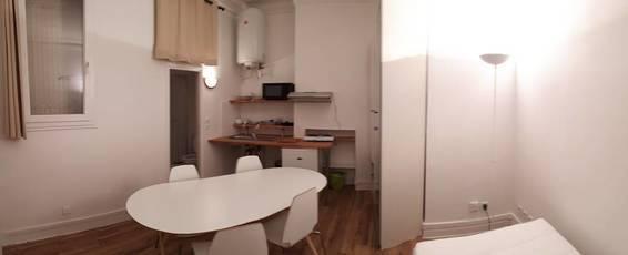 Location meublée studio 17m² Paris 17E (75017) - 670€