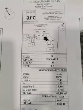Vente appartement 2pièces 49m² Noisy-Le-Grand (93160) - 240.000€