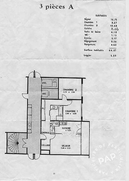 Vente appartement 3 pièces Viry-Châtillon (91170)