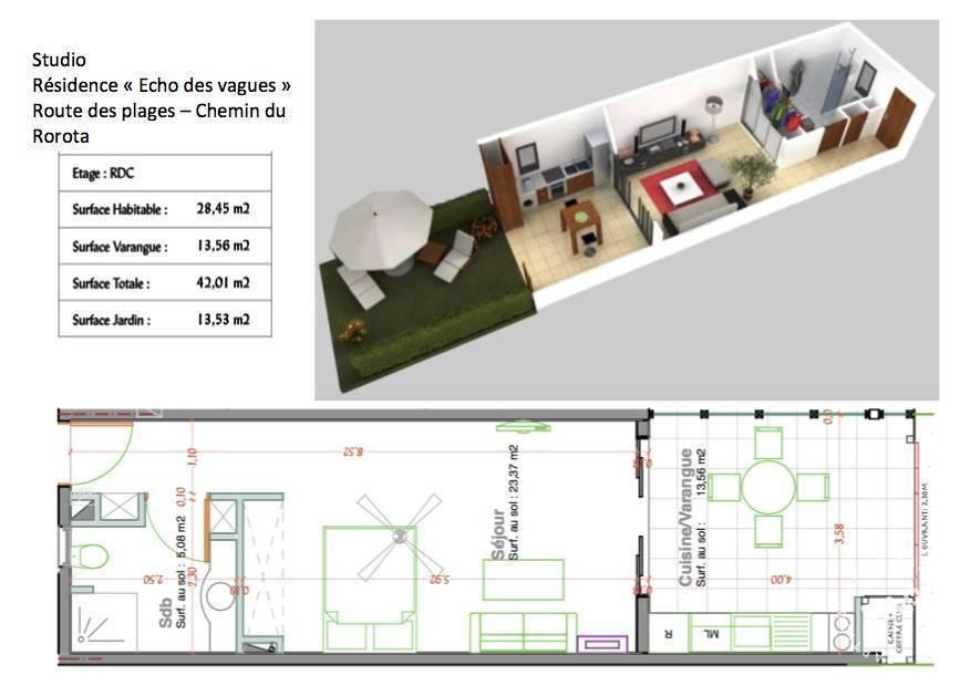 Vente appartement 2 pièces Remire-Montjoly (97354)