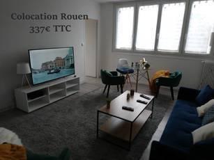 Location meublée appartement 4pièces 14m² Rouen (76000) - 337€