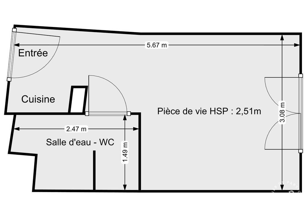 Immobilier Montreuil (93100) 109.000€ 17m²