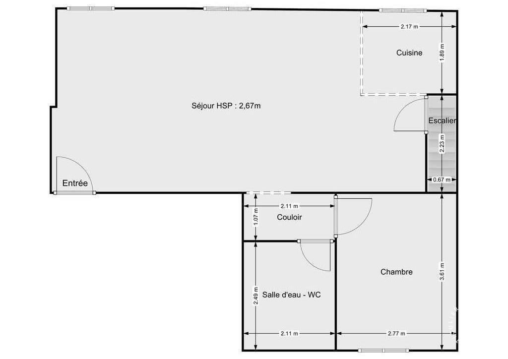 Appartement 645.000€ 66m² Paris 11E (75011)