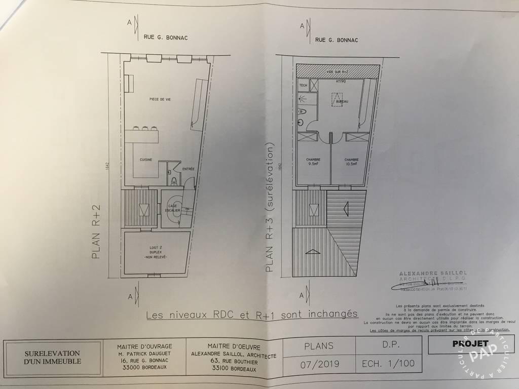 Immobilier Bordeaux (33000) 335.000€ 89m²