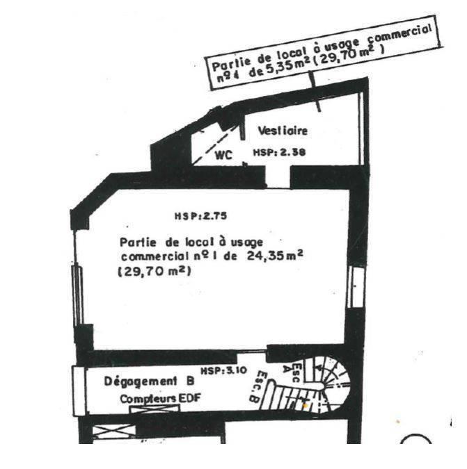 Vente et location Local commercial 29m²
