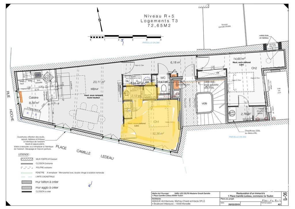 Immobilier Toulon (83000) 1.100€ 72m²