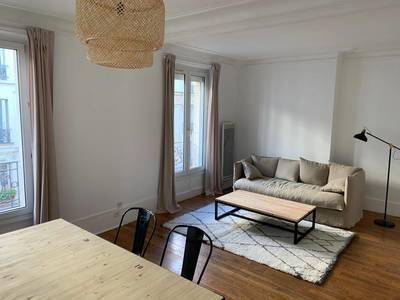 Location meublée appartement 2pièces 46m² Paris 18E (75018) - 1.350€