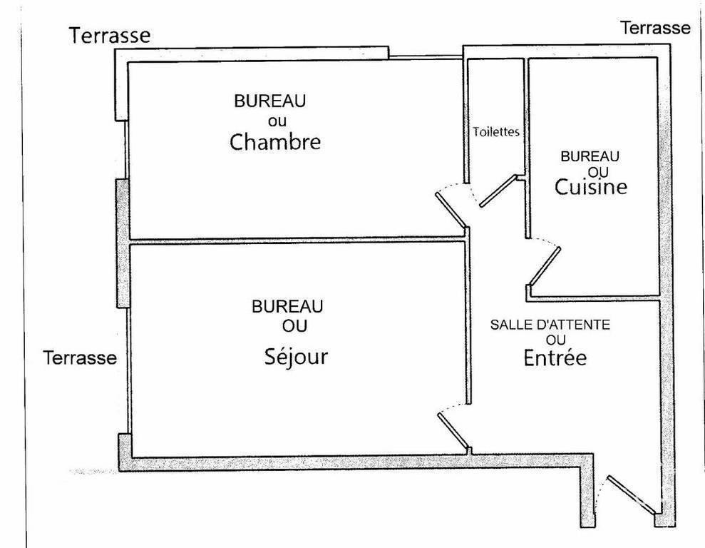Vente et location Bureaux, local professionnel 57m²