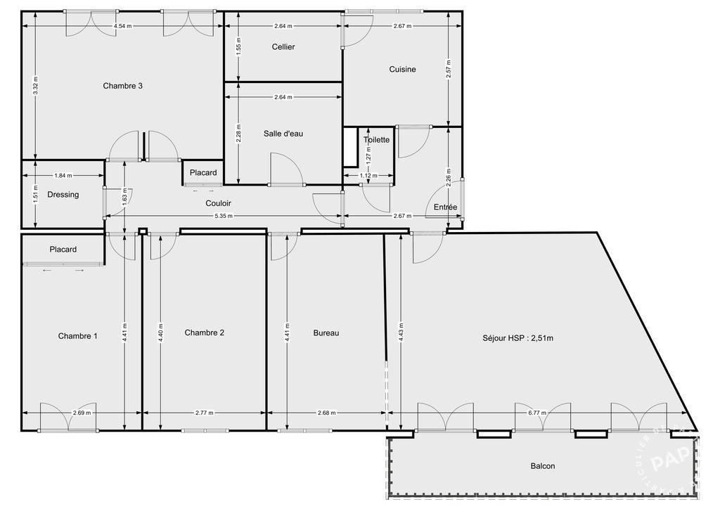 Vente Appartement Joué-Lès-Tours (37300) 107m² 163.000€