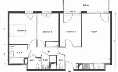Location appartement 4pièces 71m² Le Mée-Sur-Seine (77350) - 850€