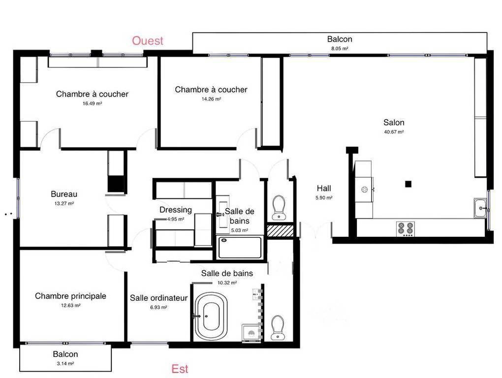 Appartement 136m²
