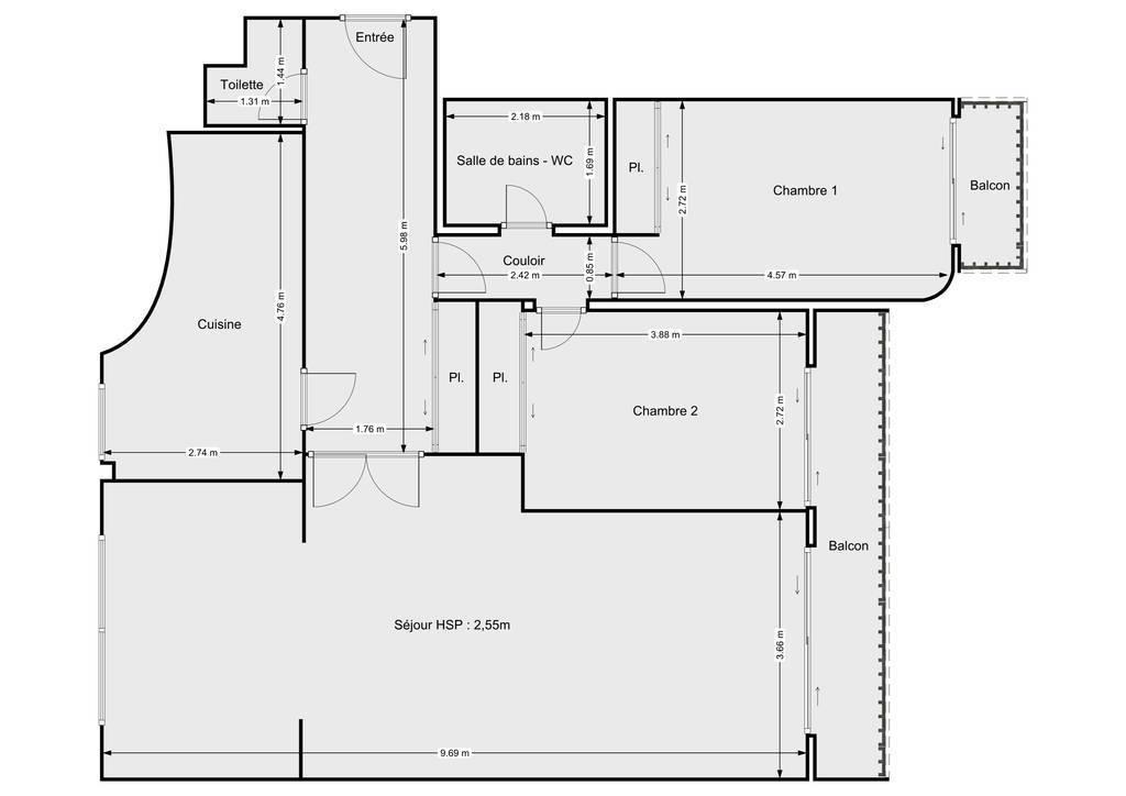 Vente Appartement Paris 12E (75012) 89m² 870.000€