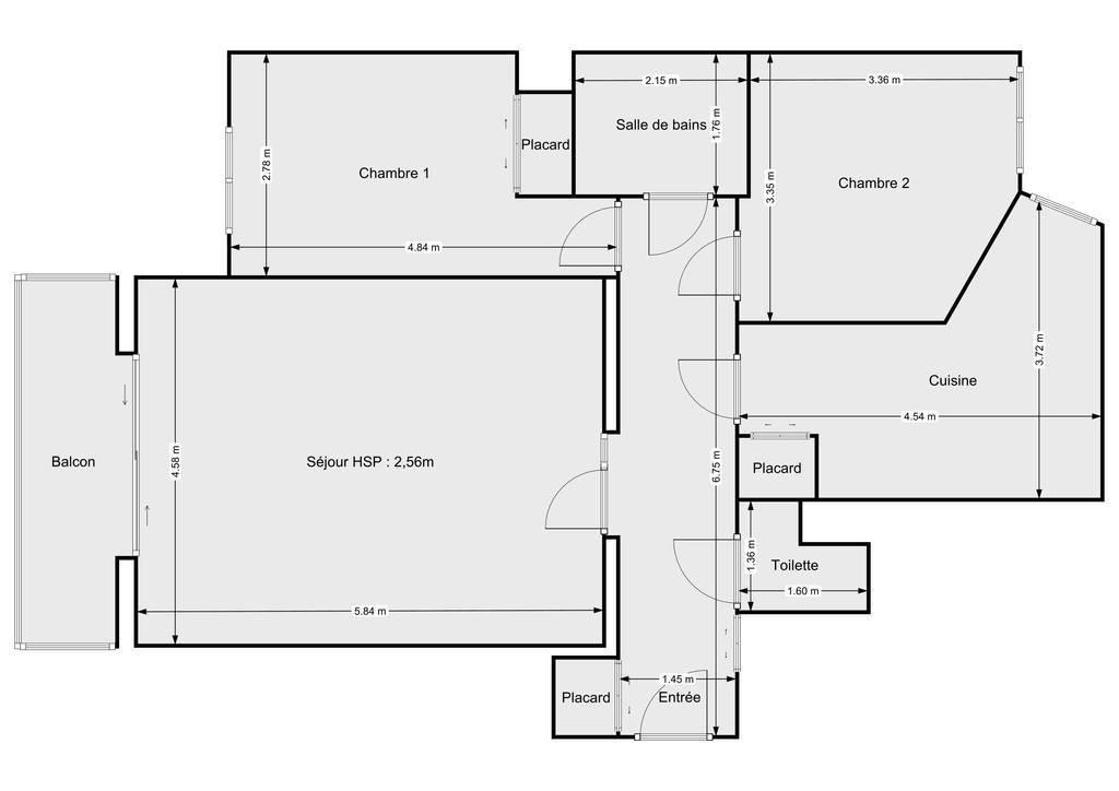 Vente Appartement Levallois-Perret (92300) 73m² 799.000€