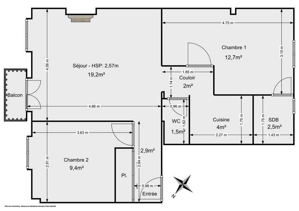 Vente appartement 3 pièces Paris 11e