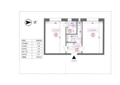 Location meublée appartement 2pièces 38m² Paris 13E (75013) - 1.372€