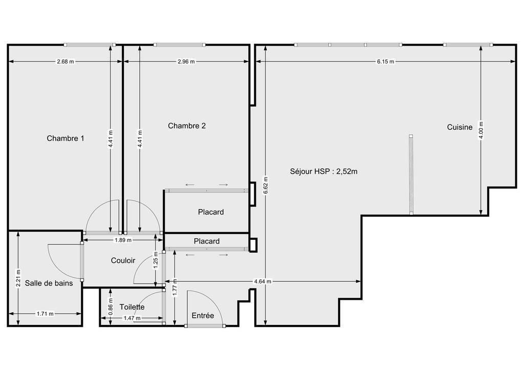 Vente Appartement Bordeaux 65m² 265.000€