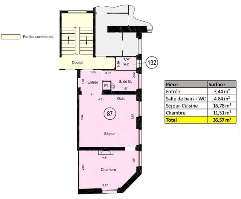 Immobilier Paris 3E (75003) 530.000€ 36m²