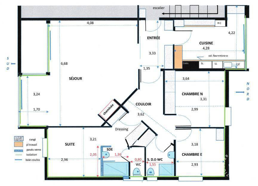 Vente Appartement Rénové - Lumineux Et Sans Vis À Vis + Garage 101m² 245.000€
