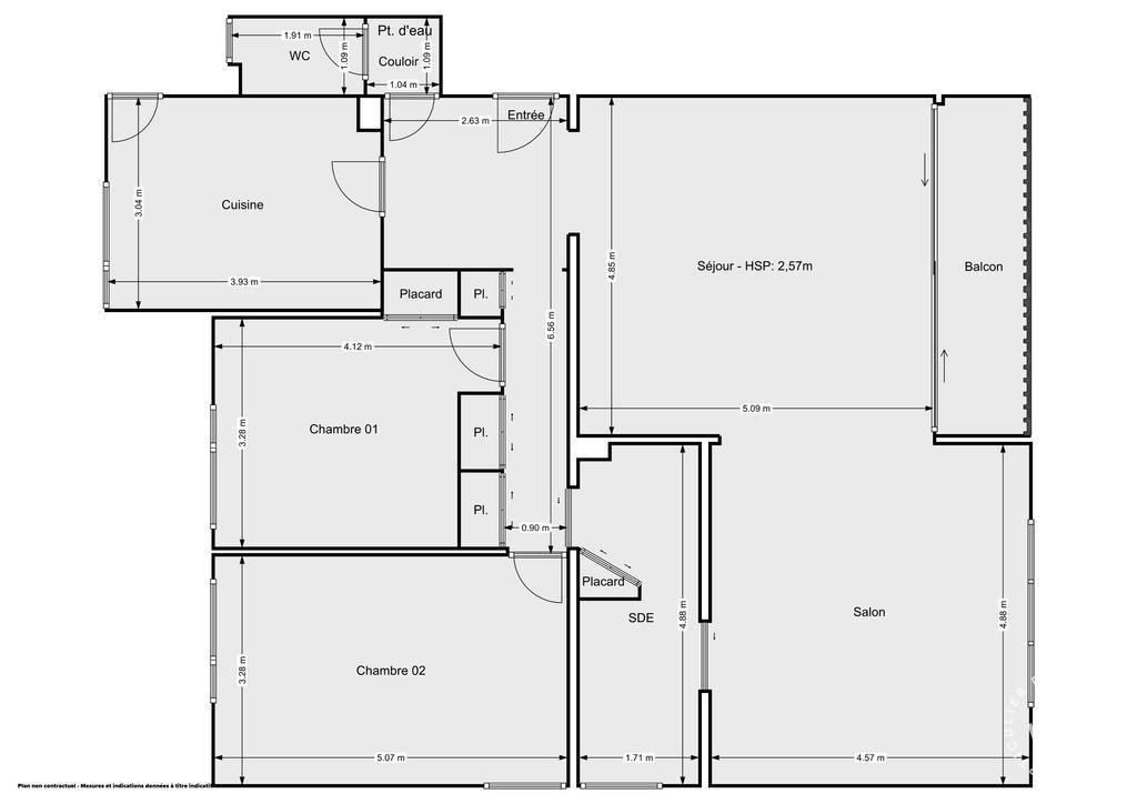 Vente Appartement Mulhouse (68100) 106m² 139.000€