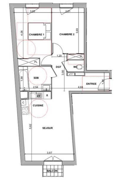 Vente appartement 3pièces 60m² Alfortville (94140) - 340.400€