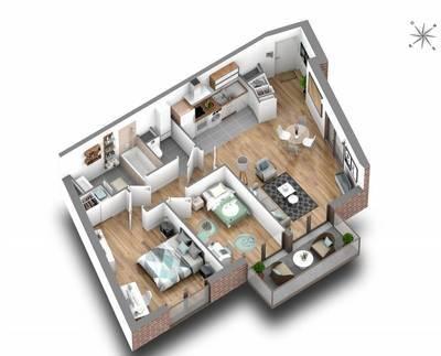 Vente appartement 3pièces 62m² Montrouge (92120) - 598.000€