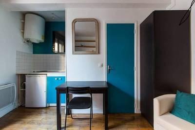 Location meublée studio 16m² Temporaire Paris 18E (75018) - 749€