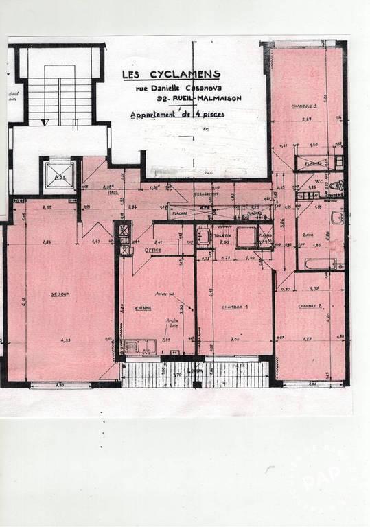 Location Appartement Rueil-Malmaison (92500) 107m² 1.900€