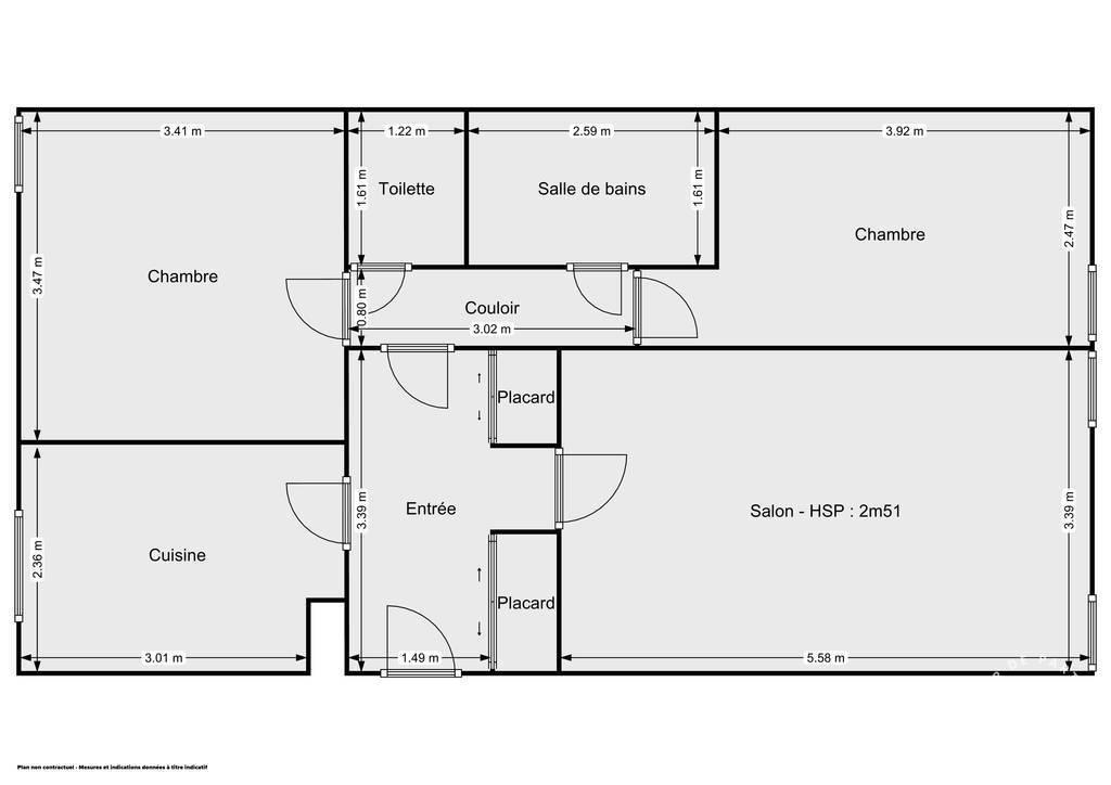Vente Appartement Hérouville-Saint-Clair (14200) 65m² 125.000€
