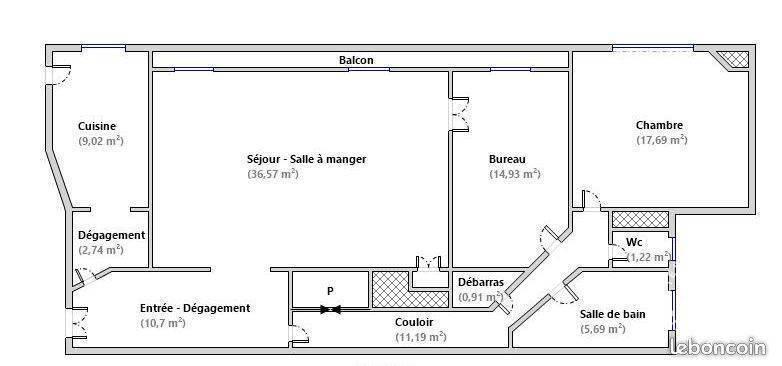 Appartement 1.395.000€ 110m² Paris 17E (75017)