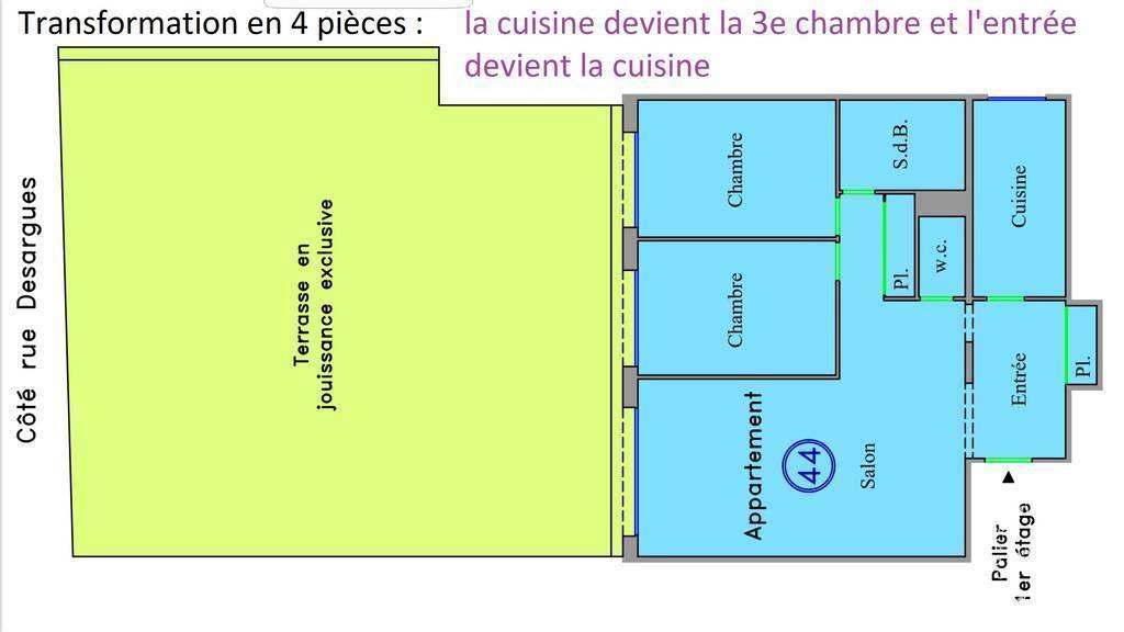 Appartement 890.000€ 68m² Paris 11E (75011)