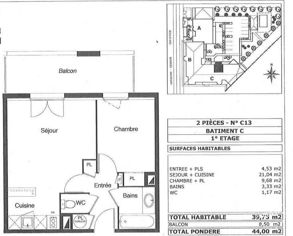 Vente Appartement Toulouse (31000) 42m² 122.000€