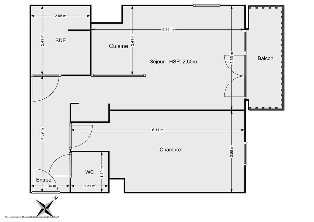 Vente Appartement Villiers-Sur-Marne (94350) 46m² 209.000€