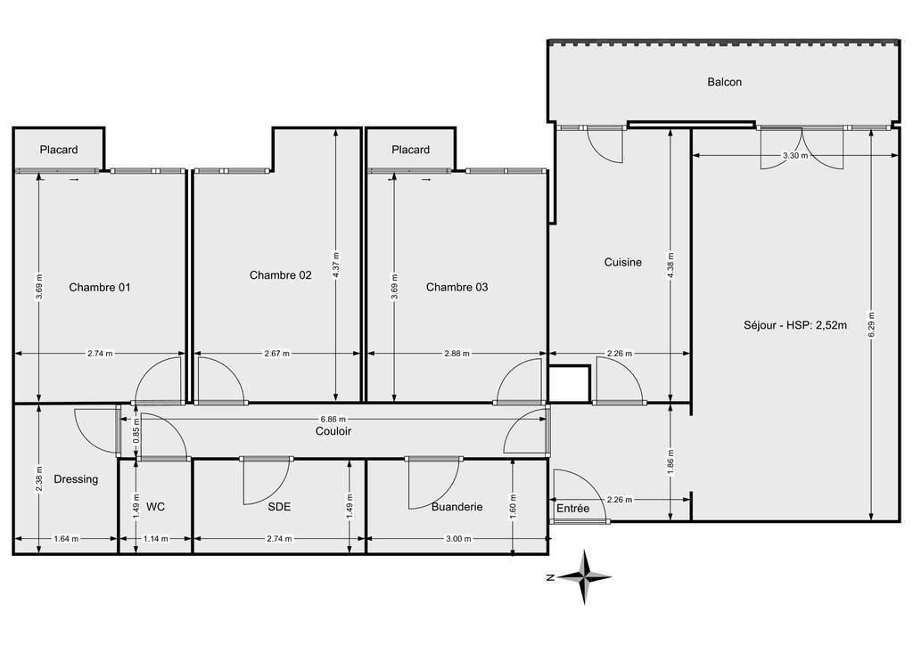 Vente Appartement Sartrouville (78500) 83m² 235.000€