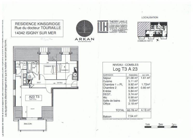 Vente appartement 3 pièces Isigny-sur-Mer (14230)