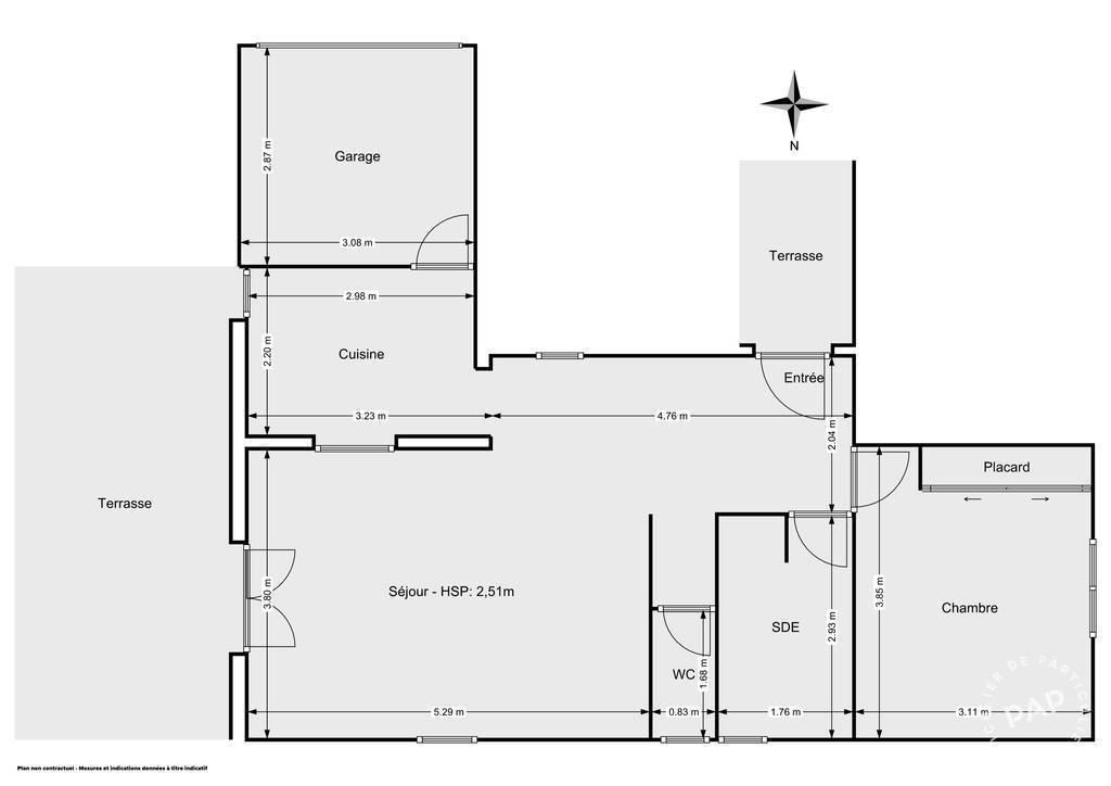 Vente Appartement Avec Beau Jardin Et Parking - Prades-Le-Lez (34730) 51m² 210.000€