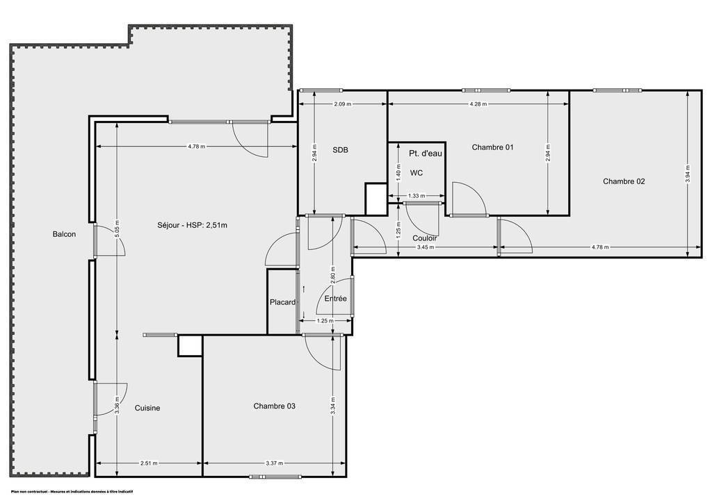 Vente Appartement Strasbourg (67100) 80m² 374.000€