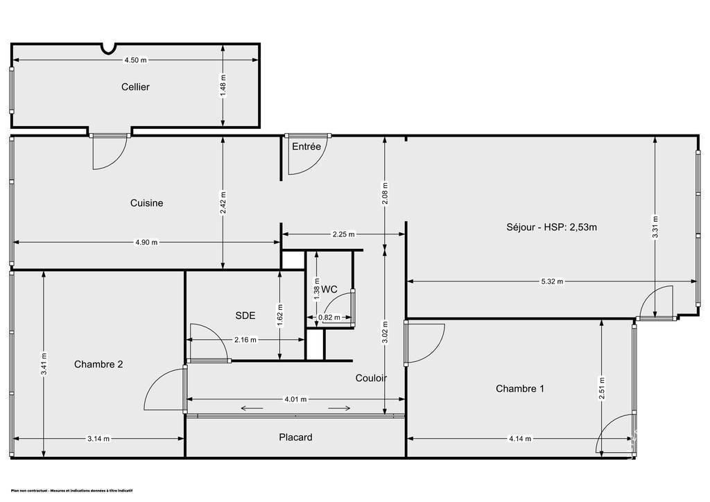 Vente Appartement Saint-Herblain (44800) 65m² 125.000€