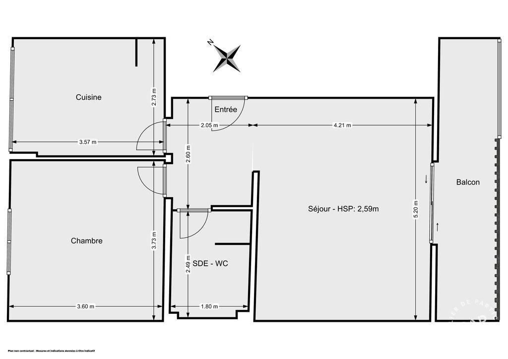 Vente Appartement Saint-Maur-Des-Fossés (94210) 51m² 355.000€