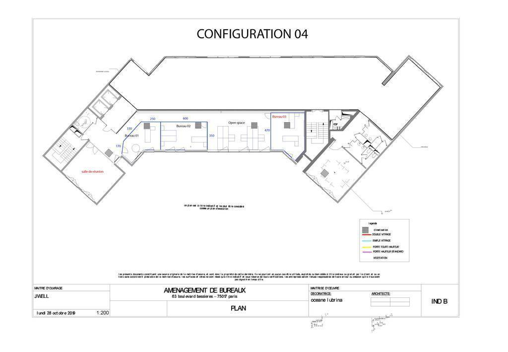 Vente et location Bureaux, local professionnel Paris 17E (75017) 180m² 8.000€