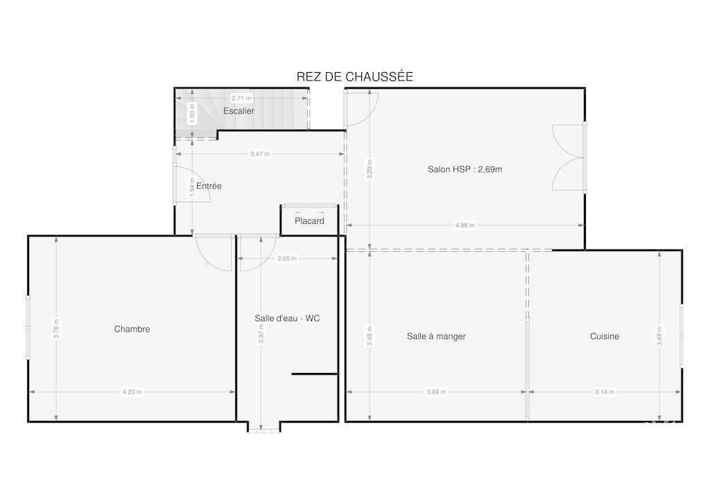 Vente Maison Le Plessis-Brion 122m² 260.000€
