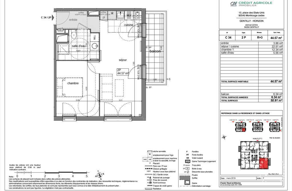 Vente Appartement Gentilly (94250) 45m² 340.000€