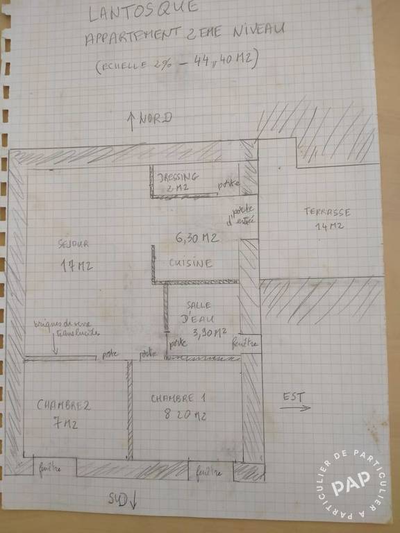 Immobilier Lantosque (06450) 500€ 45m²