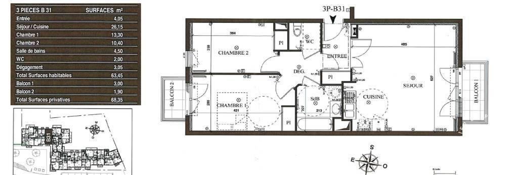Immobilier Limeil-Brévannes (94450) 229.500€ 63m²