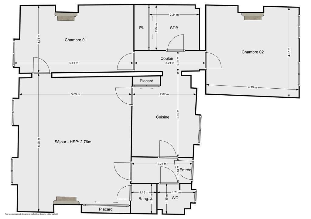 Vente Appartement Meaux (77100) 83m² 205.000€