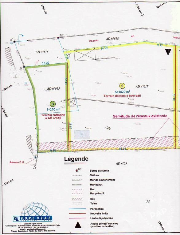 Terrain Saint-Martin-De-Valgalgues (30520) 100.000€