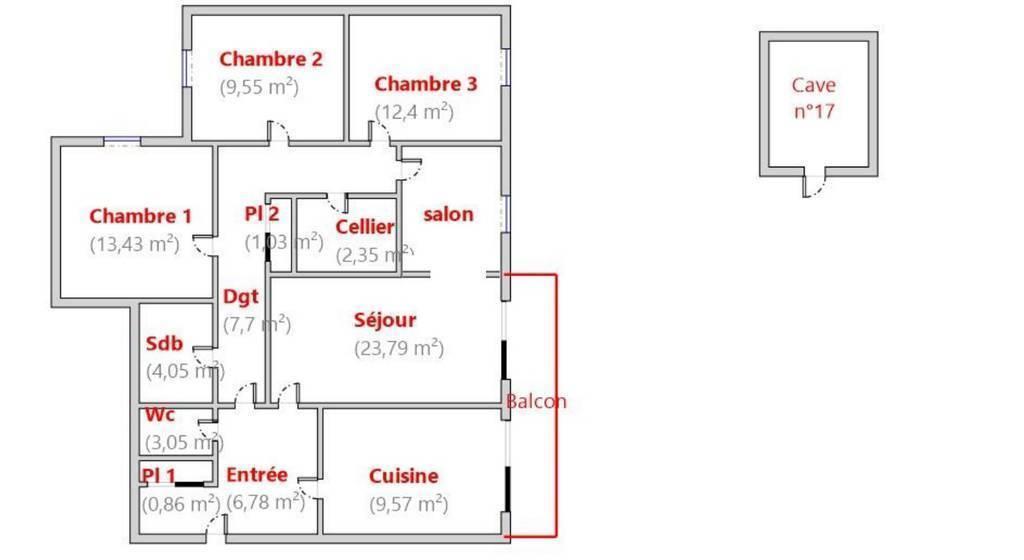 Vente Appartement 95m²