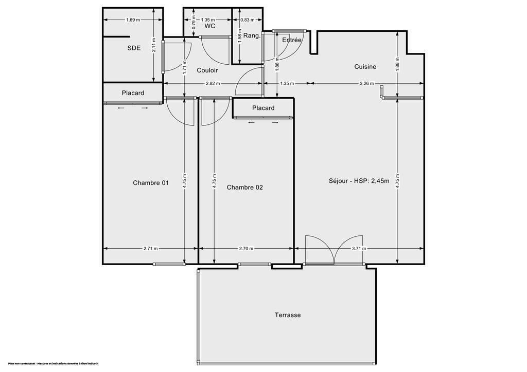 Vente Appartement Toulouse (31000) 60m² 225.000€