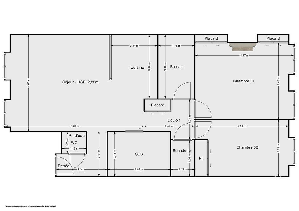 Vente immobilier 585.000€ Lyon 1Er (69001)
